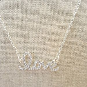 Jewelry - 18k Silver Plated LOVE Necklace